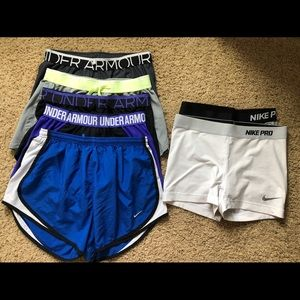 Bundle of Nike/Under Armour Athletic Shorts!